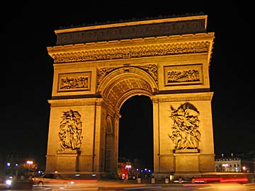 [arc de triomphe, night]
