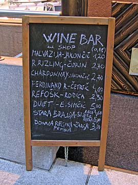 [wine bar menu]
