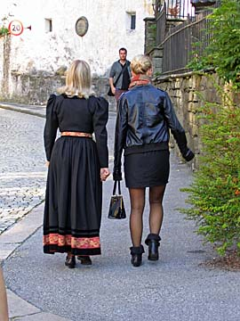 [ladies walking]