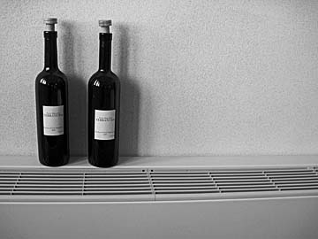 [bottles on radiator]