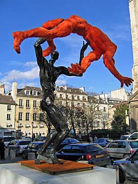 [wrestling statues]